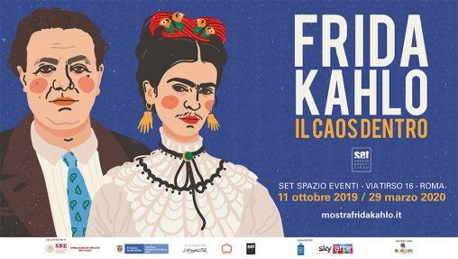 S'intitola Il caos dentro la nuova mostra dedicata all'artista messicana Frida Kahlo, che dal 12 ottobre al 29 marzo verrà ospitata nelle sale del SET-Spazio Eventi Tirso a Roma, e che prosegue quella ancora in corso fino al 29 settembre a Palermo, Frida Kahlo- i colori dell'anima, a Palazzo Zingone Trabia